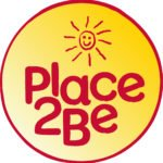 Red and yellow circular logo of Place2Be with a sunshine