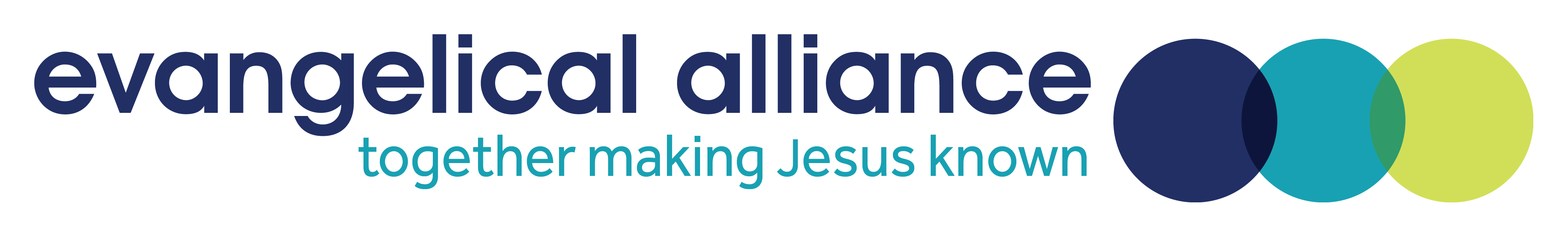 Evangelical Alliance Logo with the tagline of together making Jesus known